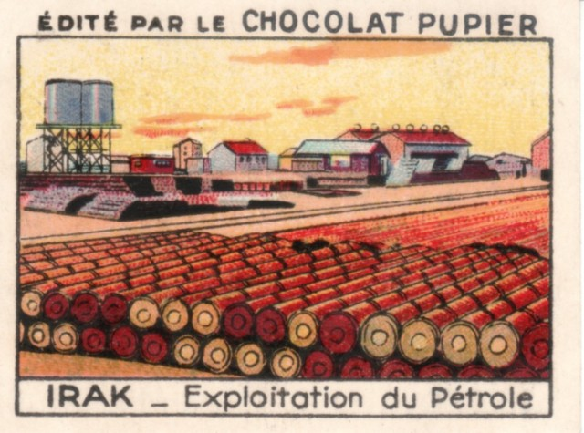 iraq chocolate card